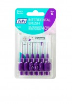 Tepe  Interdent Purple Brushes 1.1 mm - Pack of 6