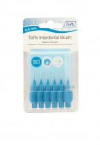Tepe  Interdent Blue Brushes 0.6 mm - Pack of 6