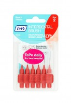 Tepe Interdent Red Brushes 0.5 mm - Pack of 6